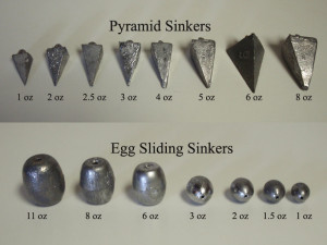 pyramid and egg sinker