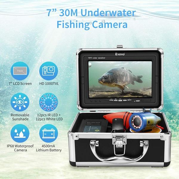 Eyoyo EF07 Pro underwater fishing camera features