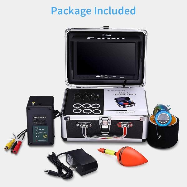 Eyoyo EF07 Pro underwater fishing camera package