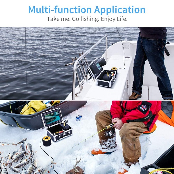 multipurpose Eyoyo EF07 Pro underwater fishing camera