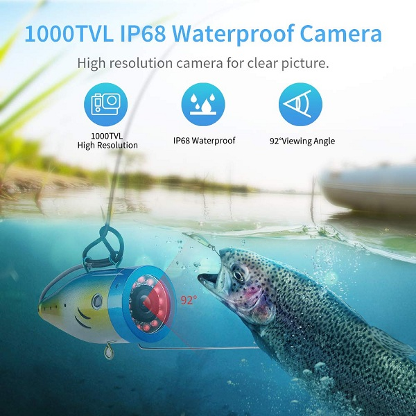 Eyoyo EF07 Pro underwater fishing camera wide angle